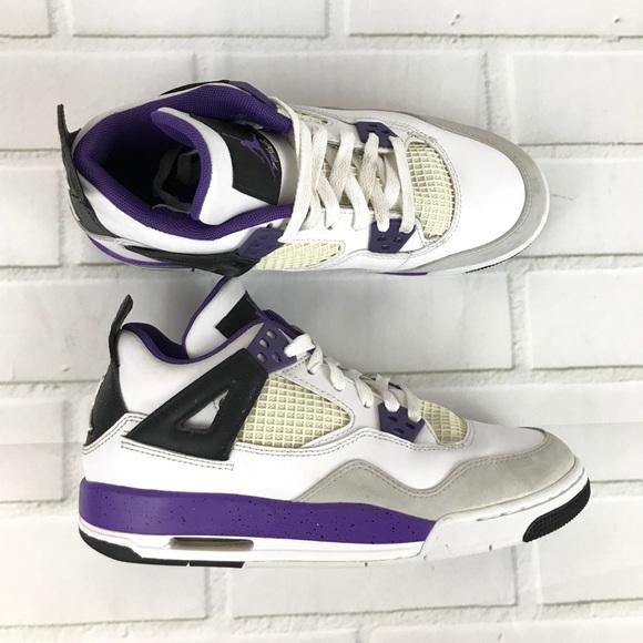 888bed7ebe2156 Jordan Other - Nike Air Jordan retro IV 4 Kids white purple 6y